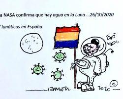 Agua en la luna… y lunáticos en España