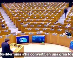 El discurso de Puigdemont ante un Parlamento Europeo completamente vacío (Vídeo viral)