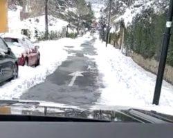 La única calle despejada de nieve…, la del señor Marqués de Galapagar