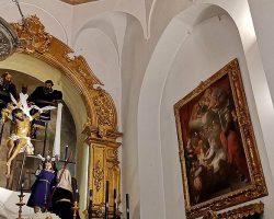 Impecable restauración del Cristo del DescendimientoEl titular de la Quinta Angustia vuelve reconocible