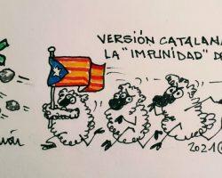 "La ""impunidad"" del rebaño catalanaLa viñeta de Ramón"