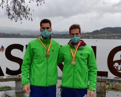 Javier García y Jaime Canalejo, campeones de España de Remo de Larga DistanciaLos remeros del Club Náutico de Sevilla también consiguieron bajar su propio récord de España de larga distancia