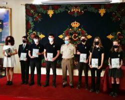 Entrega de Premios a alumnos del Colegio Internacional Europa. Concurso artístico con motivo del Centenario de La Legión