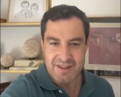 """Vídeo. Juan Manuel Moreno cuenta sus síntomas por Covid y agradece las muestras de cariño""""Se pasa miedo por las noches cuando uno se pone a pensar qué te puede pasar. Miedo por tu familia, miedo por los demás"""""""