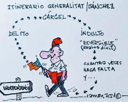 Itinerario Generalitat/SánchezLa Viñeta de Ramón