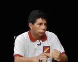 (VIDEO) Un adoquín sin alfabetizar y marxista sin amaestrar apunta a Jefe de Estado en el Perú… y se llama Pedro