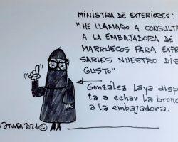 González Laya dispuesta a echar la bronca a la embajadoraLa Viñeta de Ramón
