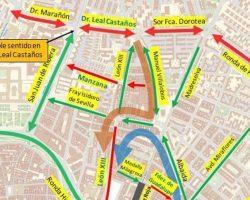 Culmina la implantación del doble sentido en la segunda ronda y los trabajos para que la Carretera de Carmona tenga sentido único en dirección al Casco Antiguo para el vehículo privadoPlano de la nueva reordenación del Distrito Macarena