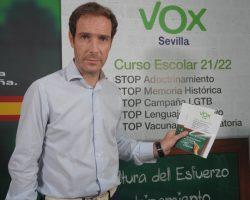 """VOX apuesta por una educación donde se premie la cultura del esfuerzo y se denuncie el intento de adoctrinamiento político y sexualJavier Cortés: """"Lo decimos alto y claro: señores socialistas, saquen sus sucias manos de nuestros hijos"""""""
